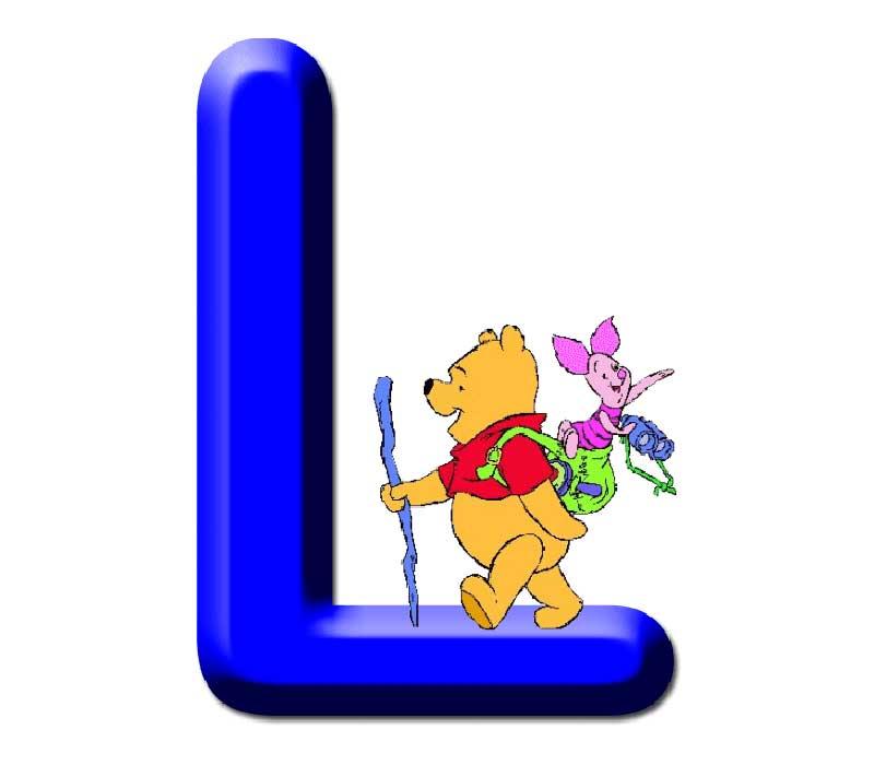 Actividades para niños: alfabeto de Winnie the Pooh